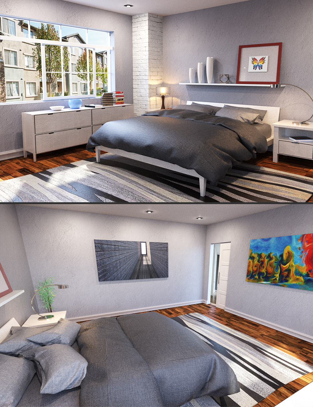 PX Modern Bedroom by: PerspectX, 3D Models by Daz 3D