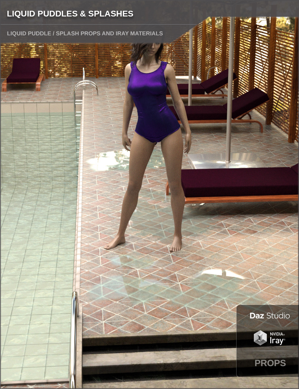 Liquid Puddles and Splashes by: SF-Design, 3D Models by Daz 3D