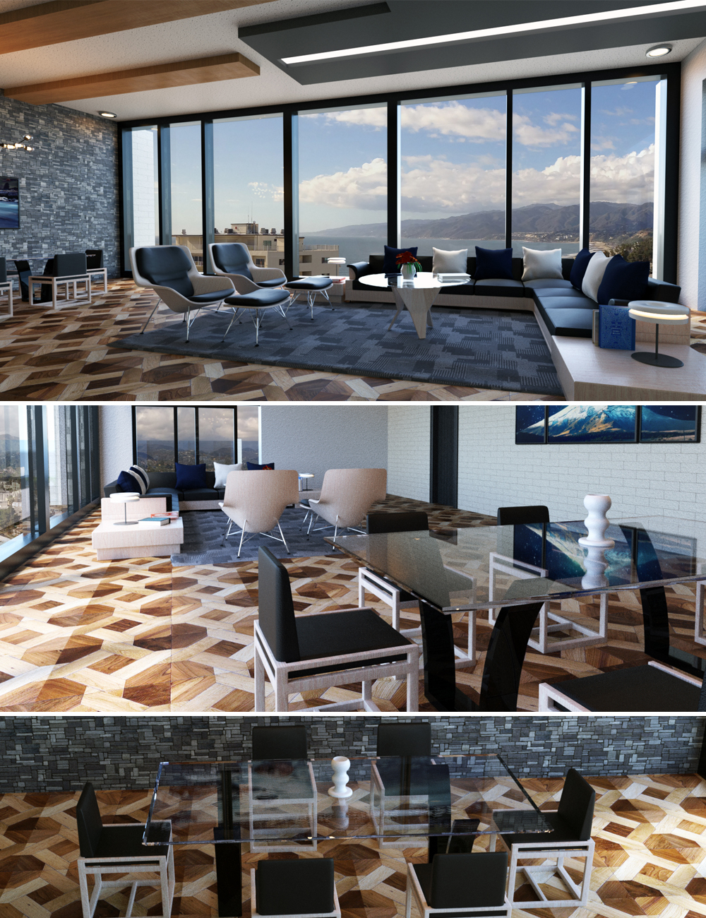 Penthouse Living Room by: Tesla3dCorp, 3D Models by Daz 3D