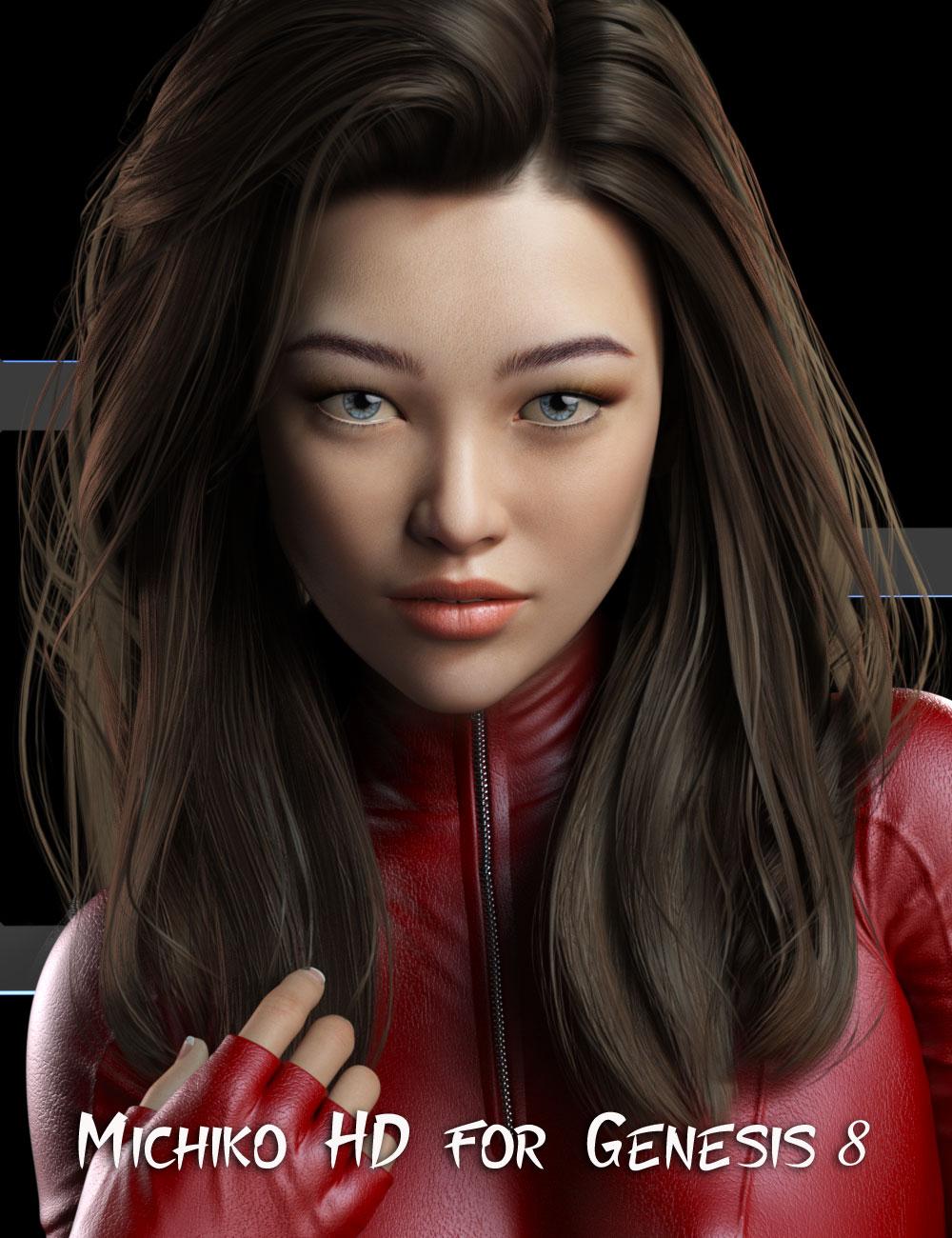 Michiko HD for Genesis 8 Female by: Mousso, 3D Models by Daz 3D