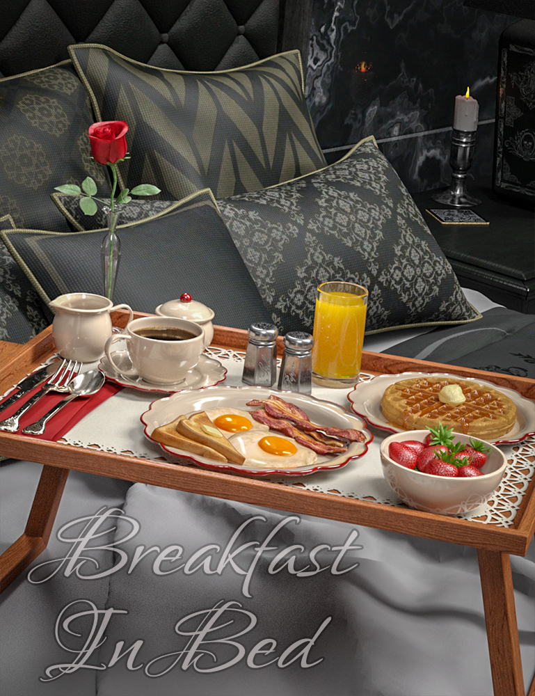 Breakfast In Bed by: SloshWerks, 3D Models by Daz 3D