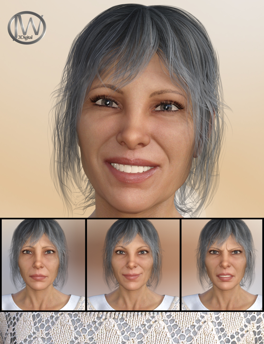 A Lady - Expressions for Genesis 8 Female(s) and Alexandra 8 by: JWolf, 3D Models by Daz 3D