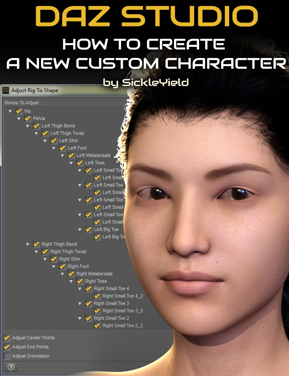 How to Create a New Custom Daz Studio Character by: Digital Art LiveSickleyield, 3D Models by Daz 3D
