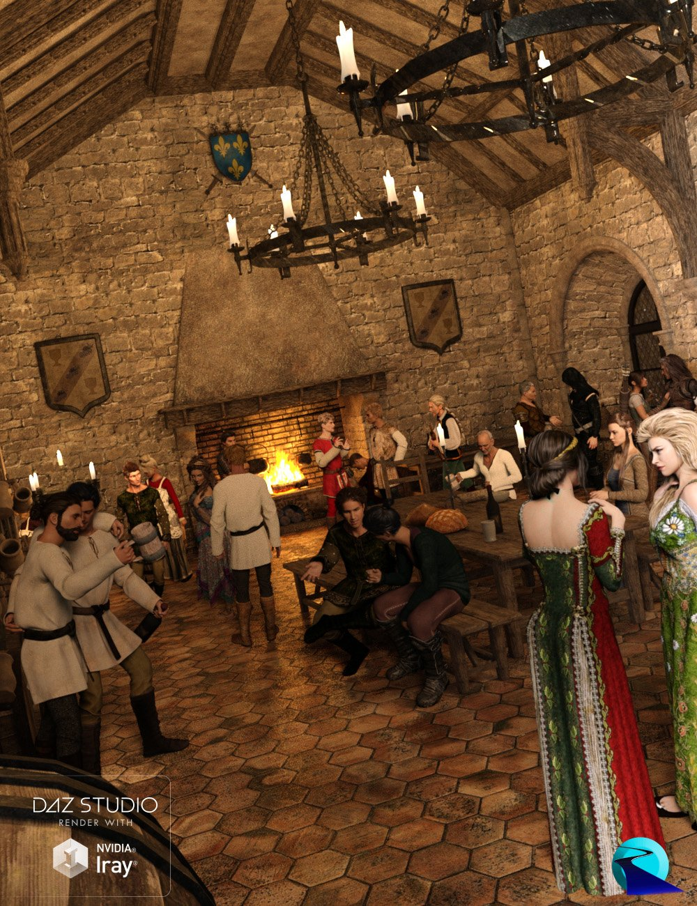 Now-Crowd Billboards - Medieval City Life by: RiverSoft Art, 3D Models by Daz 3D