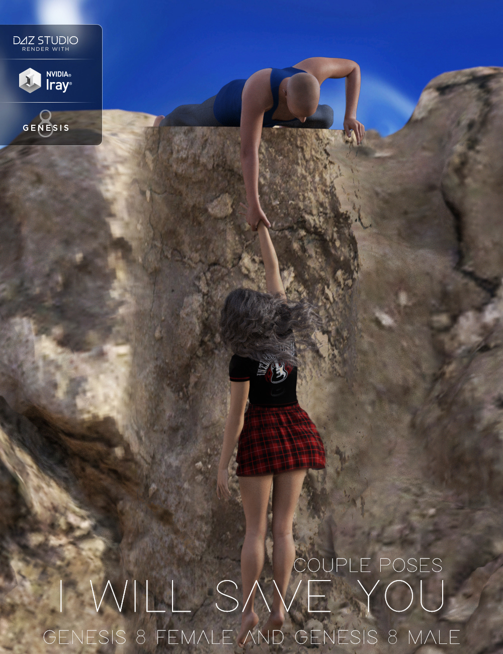 I Will Save You Poses for Genesis 8 Female(s) and Male(s) by: Muscleman, 3D Models by Daz 3D
