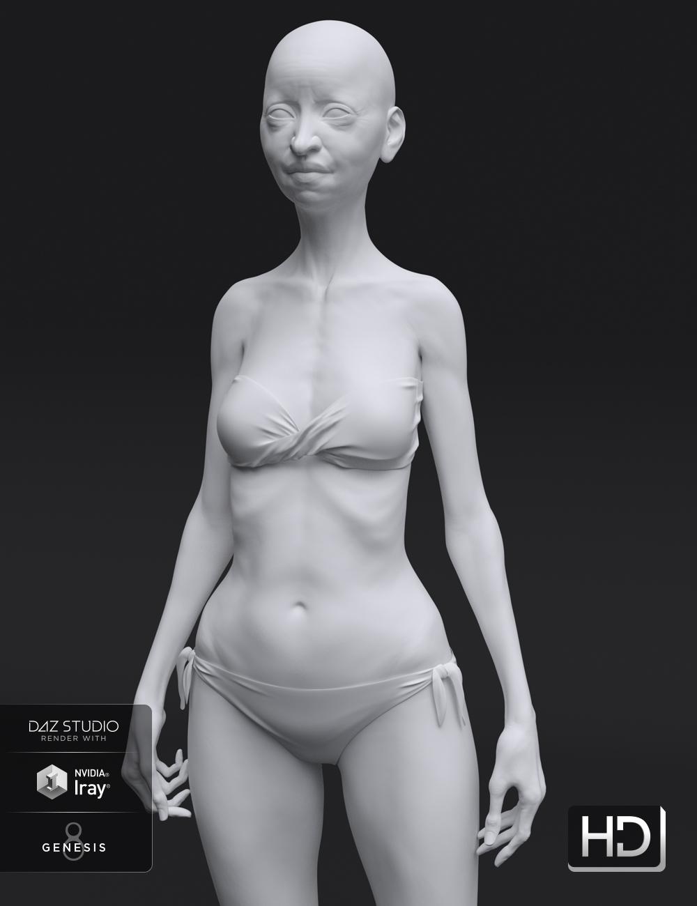 Edie 8 HD Add-On by: , 3D Models by Daz 3D