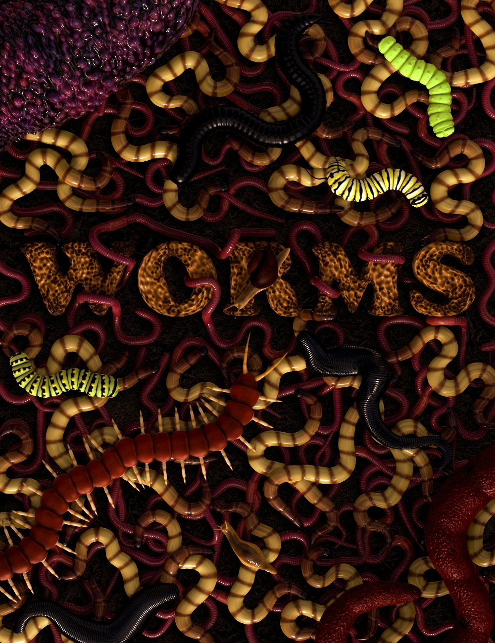 Worms by: Mechasar, 3D Models by Daz 3D