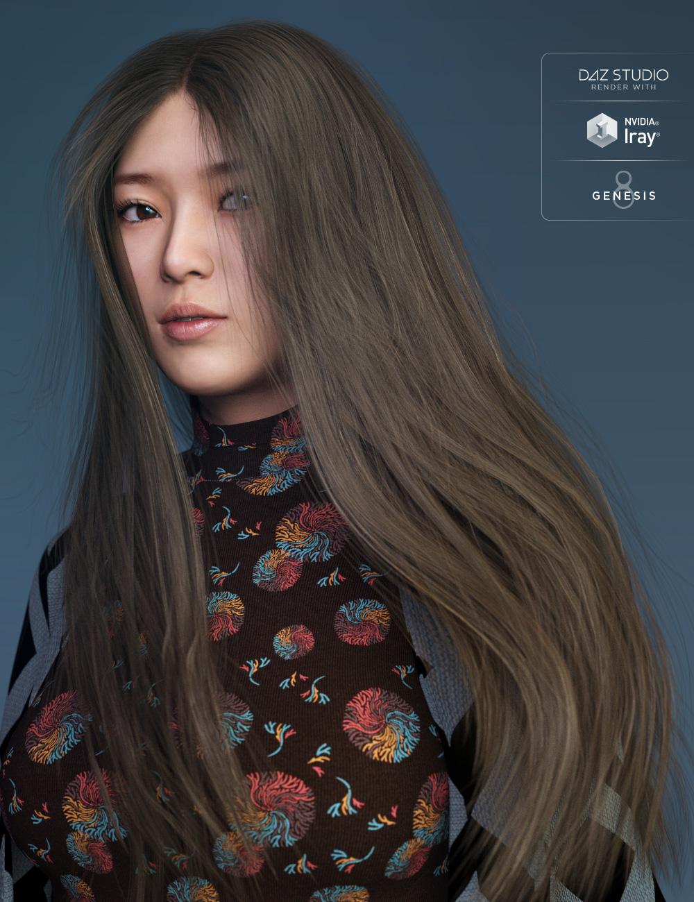 Wild Wind Hair for Genesis 8 Female(s) by: goldtassel, 3D Models by Daz 3D