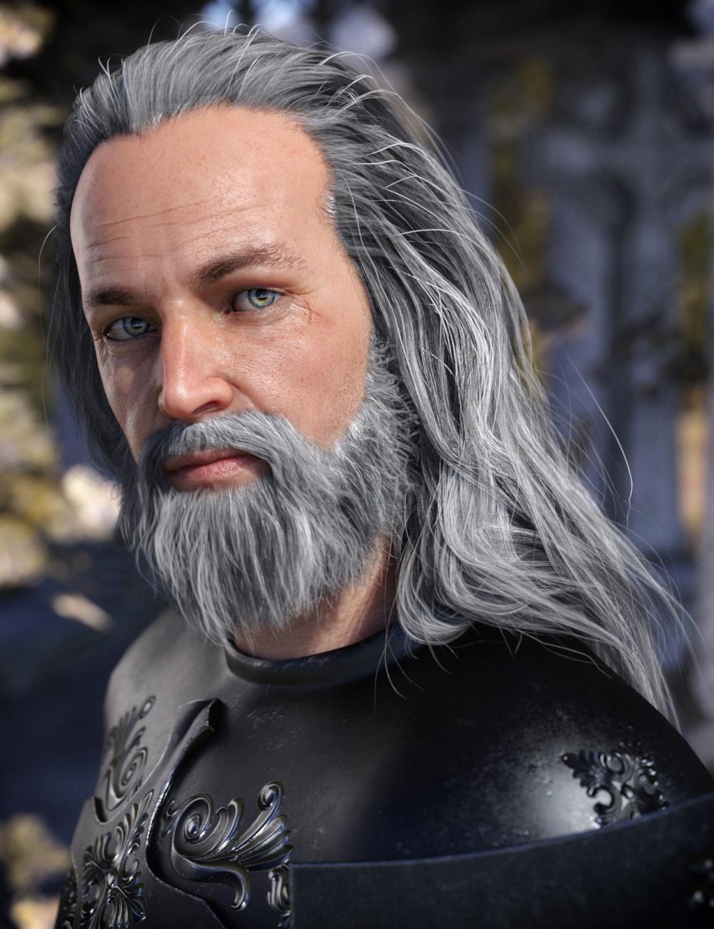 Odin Hair & Beard for Genesis 8 Male(s) by: SamSil, 3D Models by Daz 3D