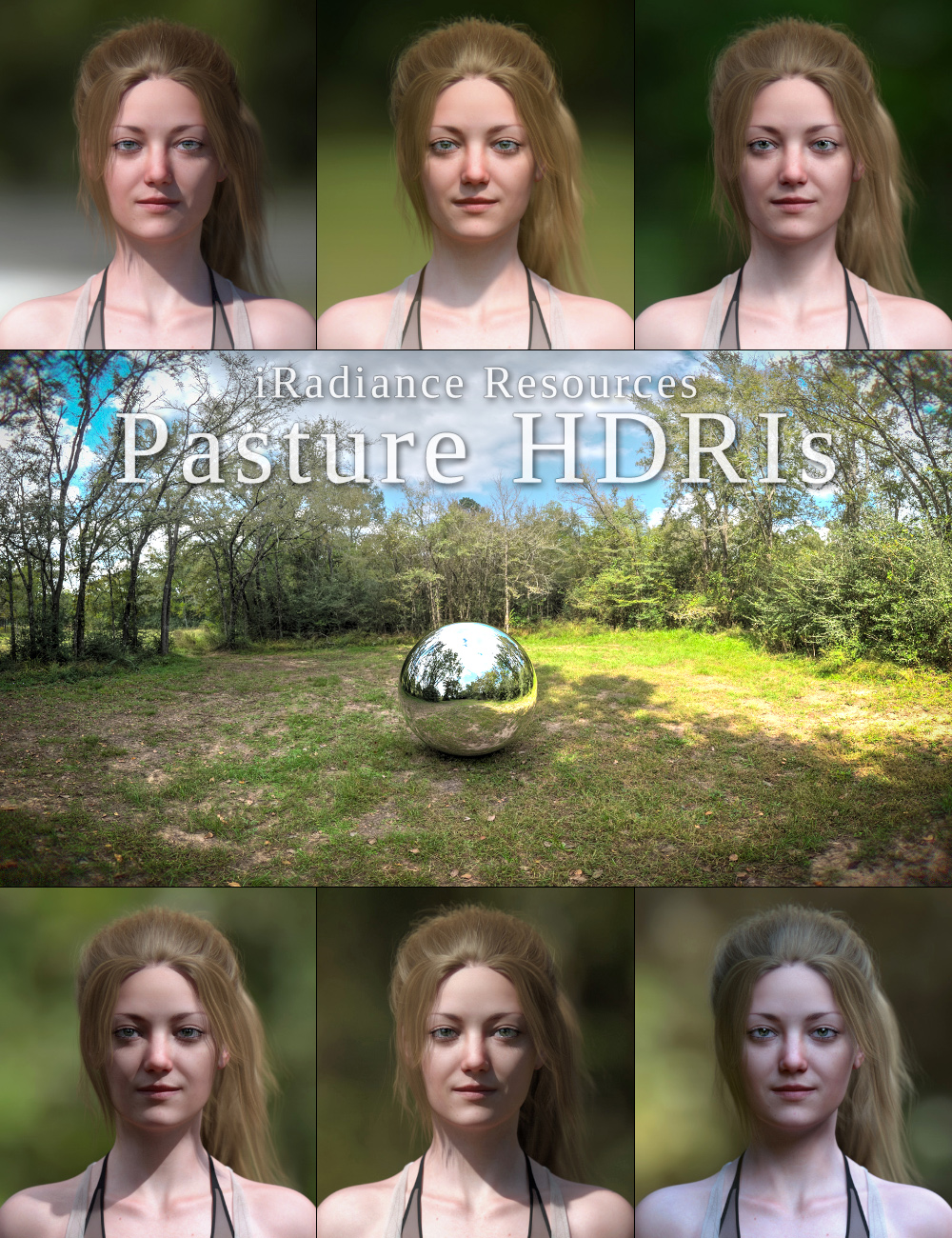 iRadiance HDR Resources - Country Pasture by: DimensionTheory, 3D Models by Daz 3D