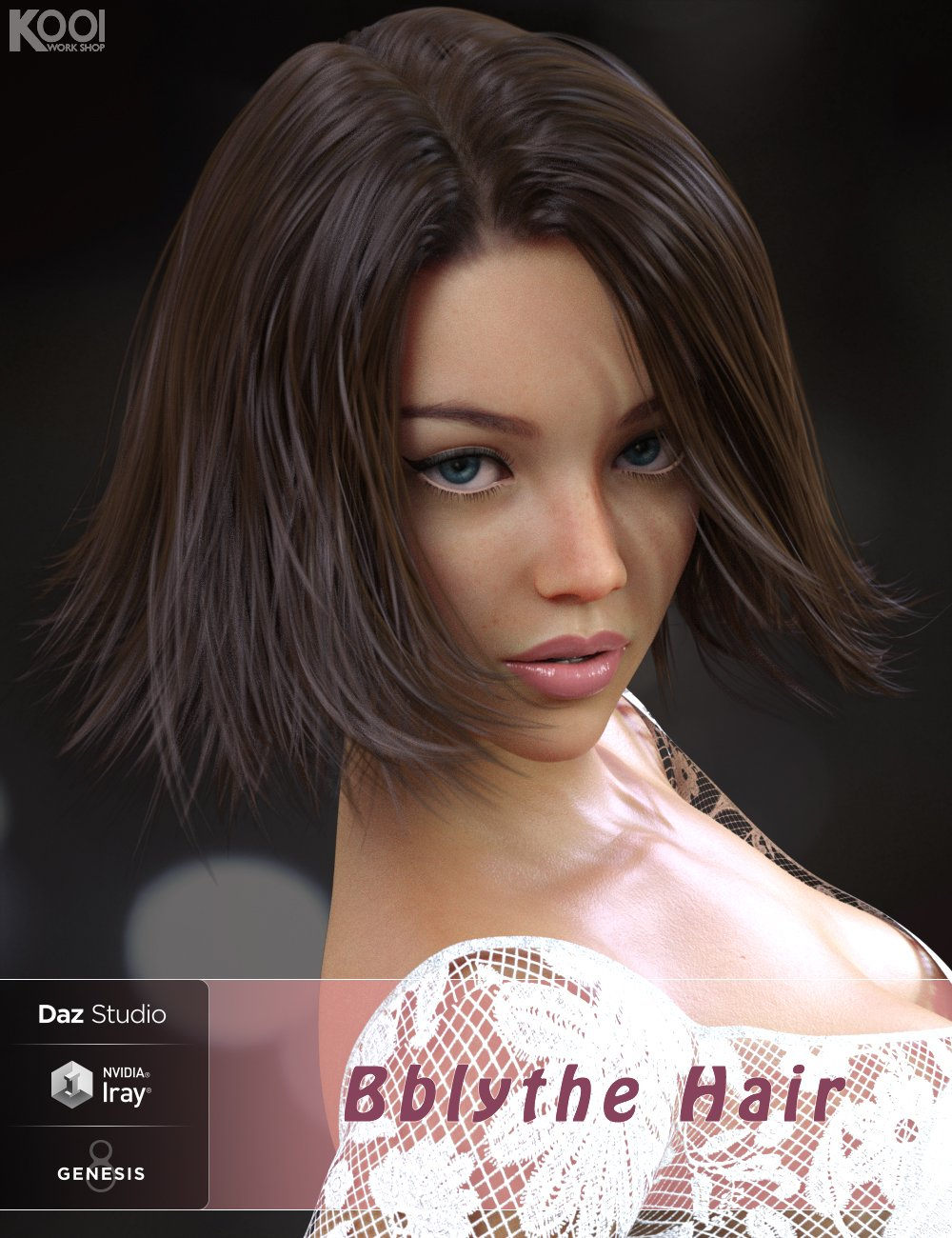 Bblythe Hair for Genesis 8 Female(s) by: Kool, 3D Models by Daz 3D