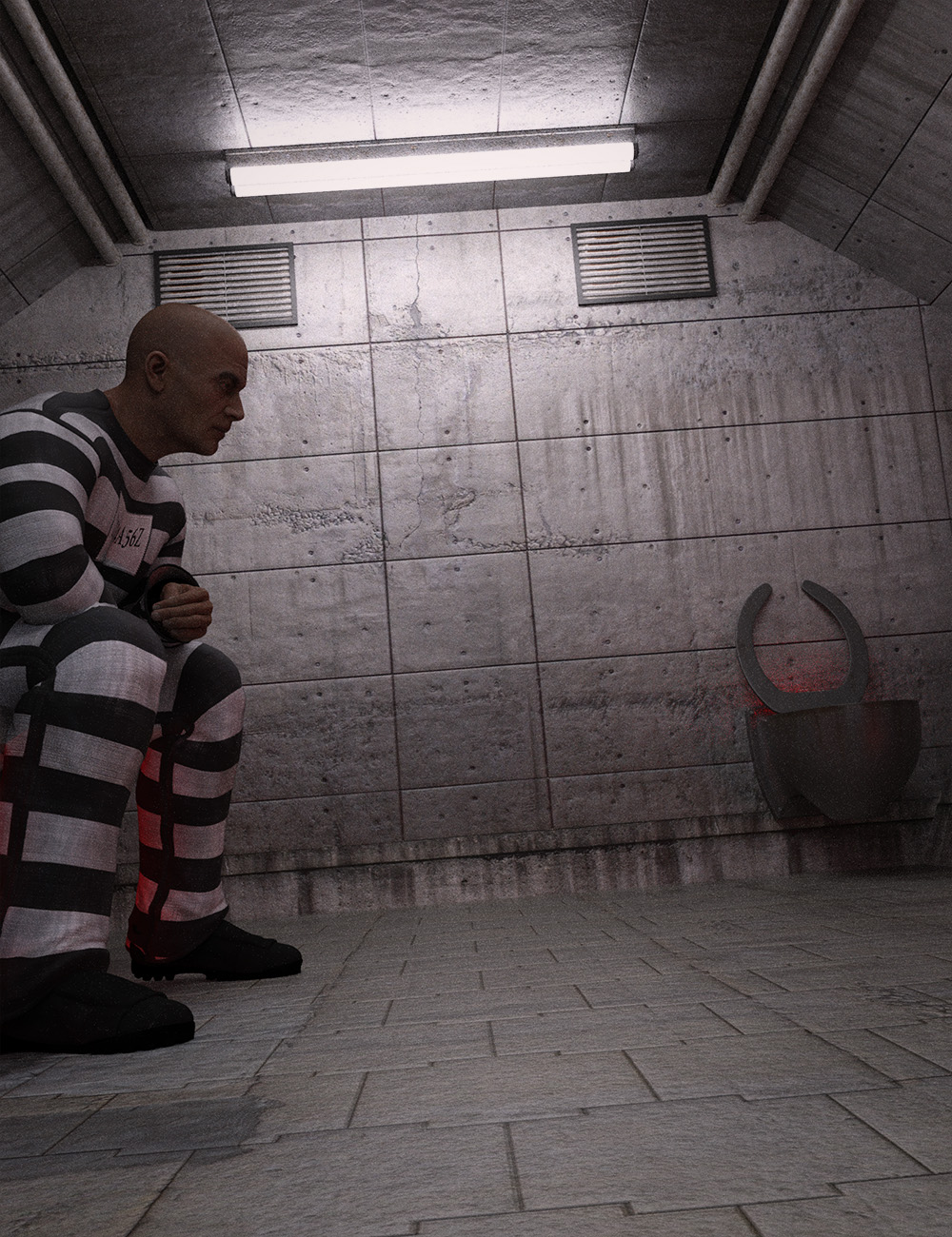 Sci-fi Prison Cell by: , 3D Models by Daz 3D