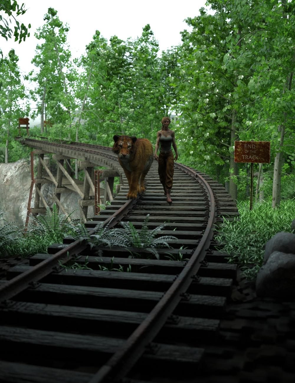 End of the Tracks by: TangoAlpha, 3D Models by Daz 3D