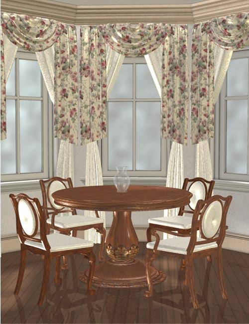 Dream Home: Great Room Breakfast Nook by: IsauraS, 3D Models by Daz 3D