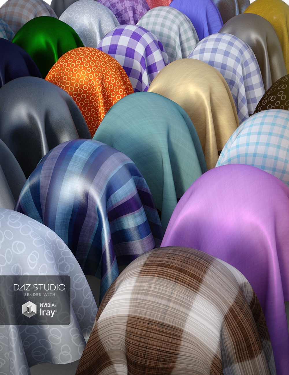 More Simple Fabric Iray Shaders by: JGreenlees, 3D Models by Daz 3D