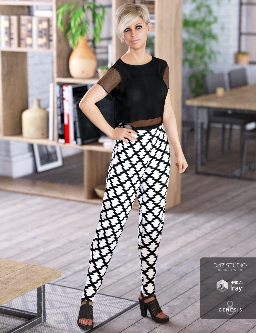 dForce Liberte Outfit for Genesis 8 Female(s) by: ArienMada, 3D Models by Daz 3D