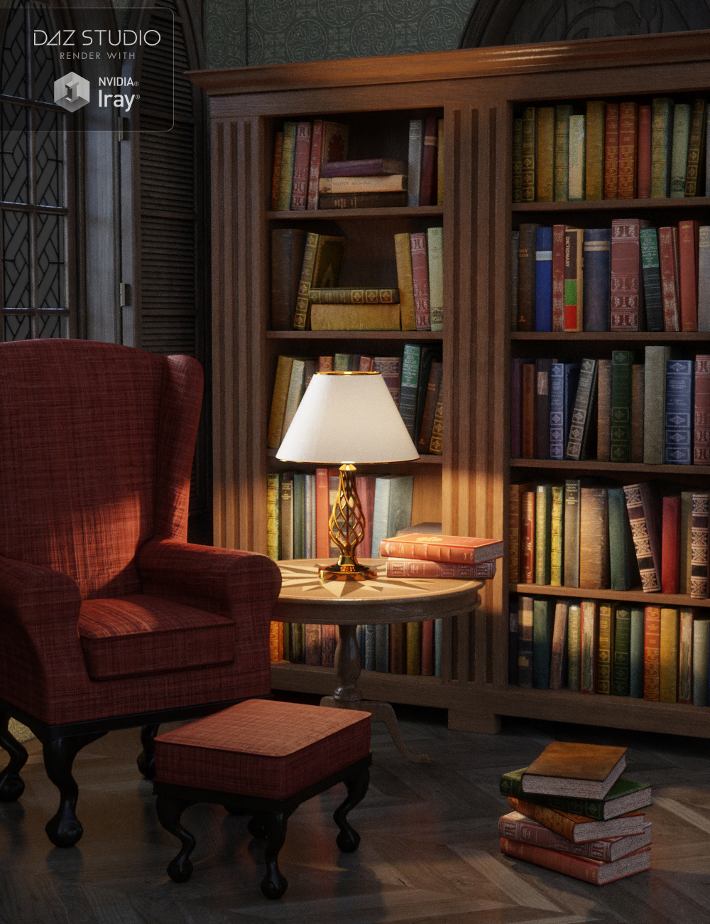Reading Corner by: Merlin Studios, 3D Models by Daz 3D