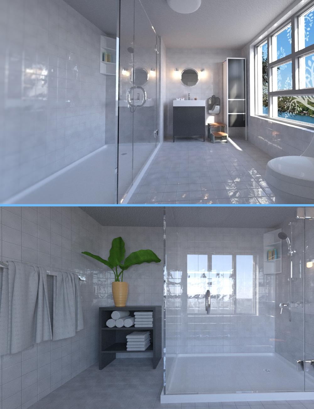 DL Modern Bathroom by: Digitallab3D, 3D Models by Daz 3D