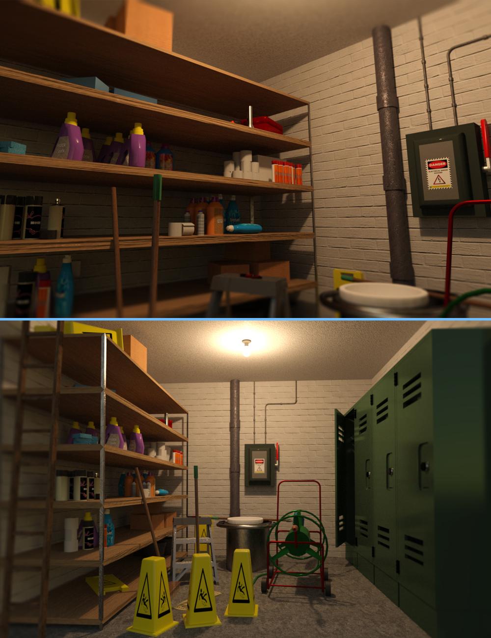 Maintenance Room by: Digitallab3D, 3D Models by Daz 3D