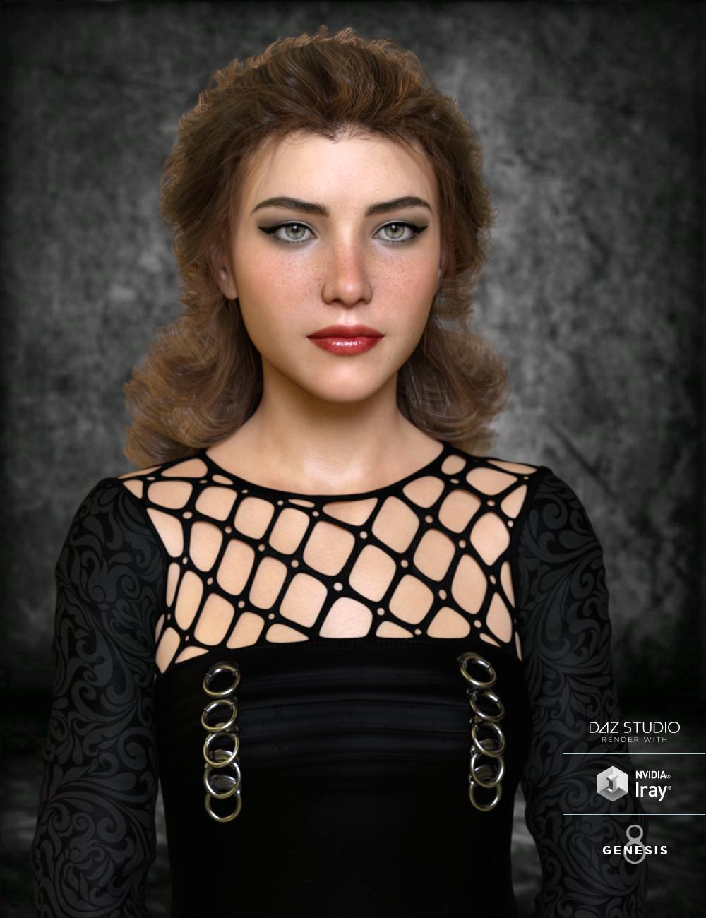 Jolie Hair for Genesis 3 and Genesis 8 Female(s) by: goldtassel, 3D Models by Daz 3D