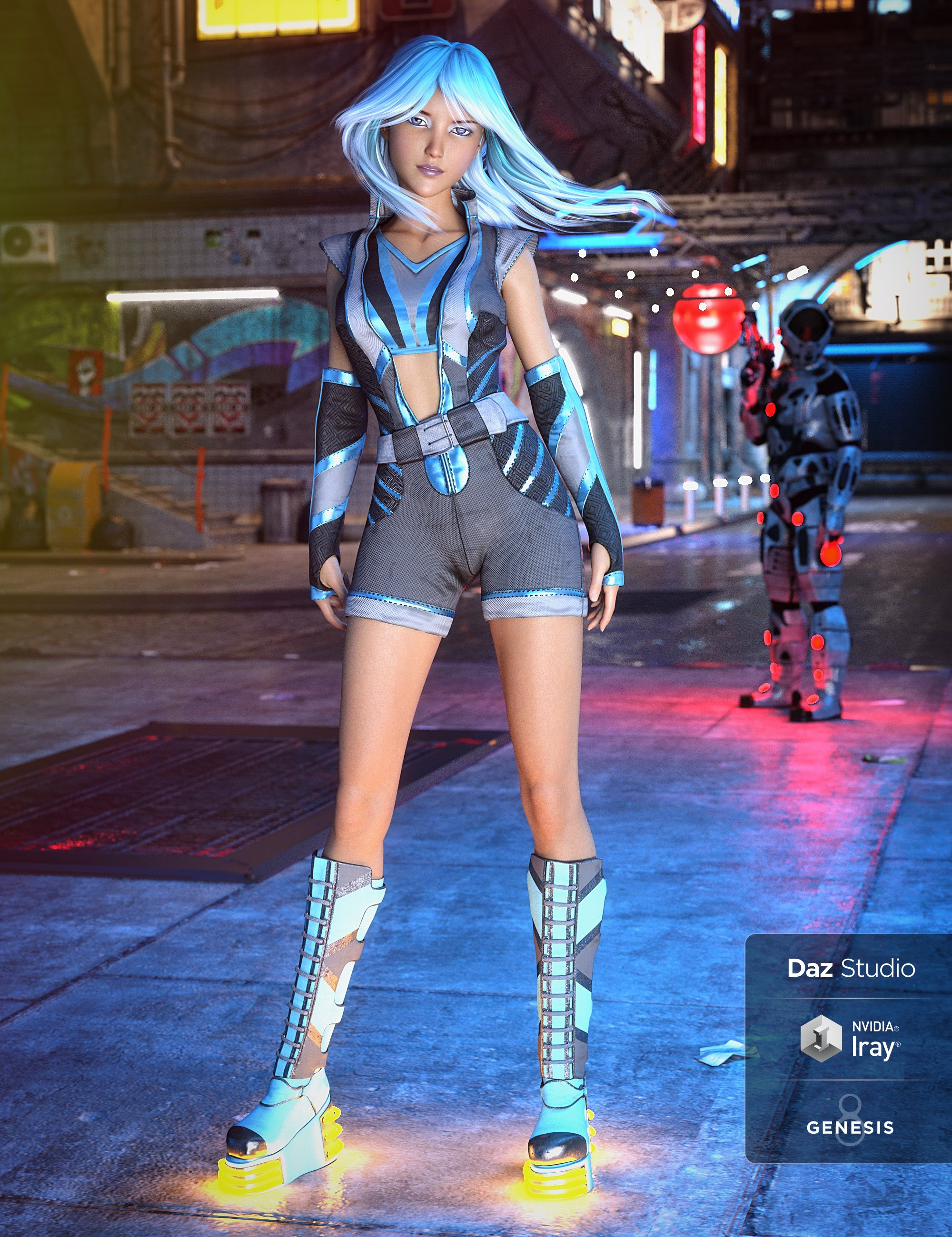 Aldebaran X-49 Outfit for Genesis 8 Female(s) by: LuthbellinaLyrra Madril, 3D Models by Daz 3D