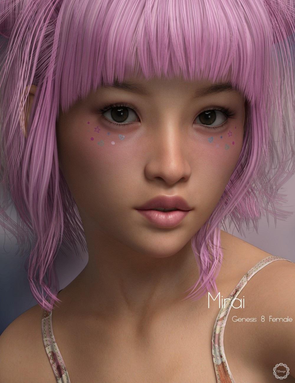 P3D Mirai for Genesis 8 Female by: P3Design, 3D Models by Daz 3D