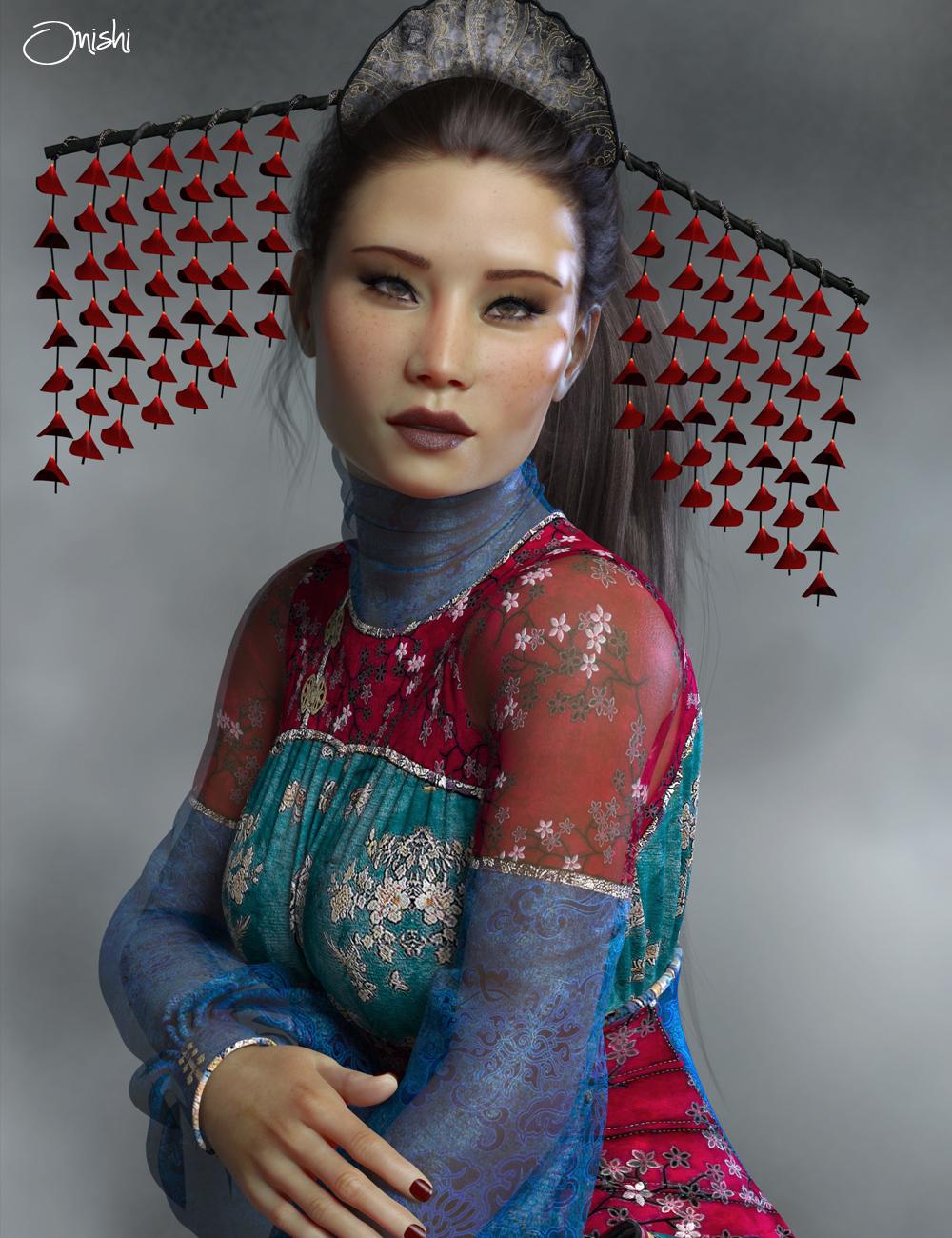 PS Onishi for Genesis 8 Female & Victoria 8 by: Pixelunashadownet, 3D Models by Daz 3D