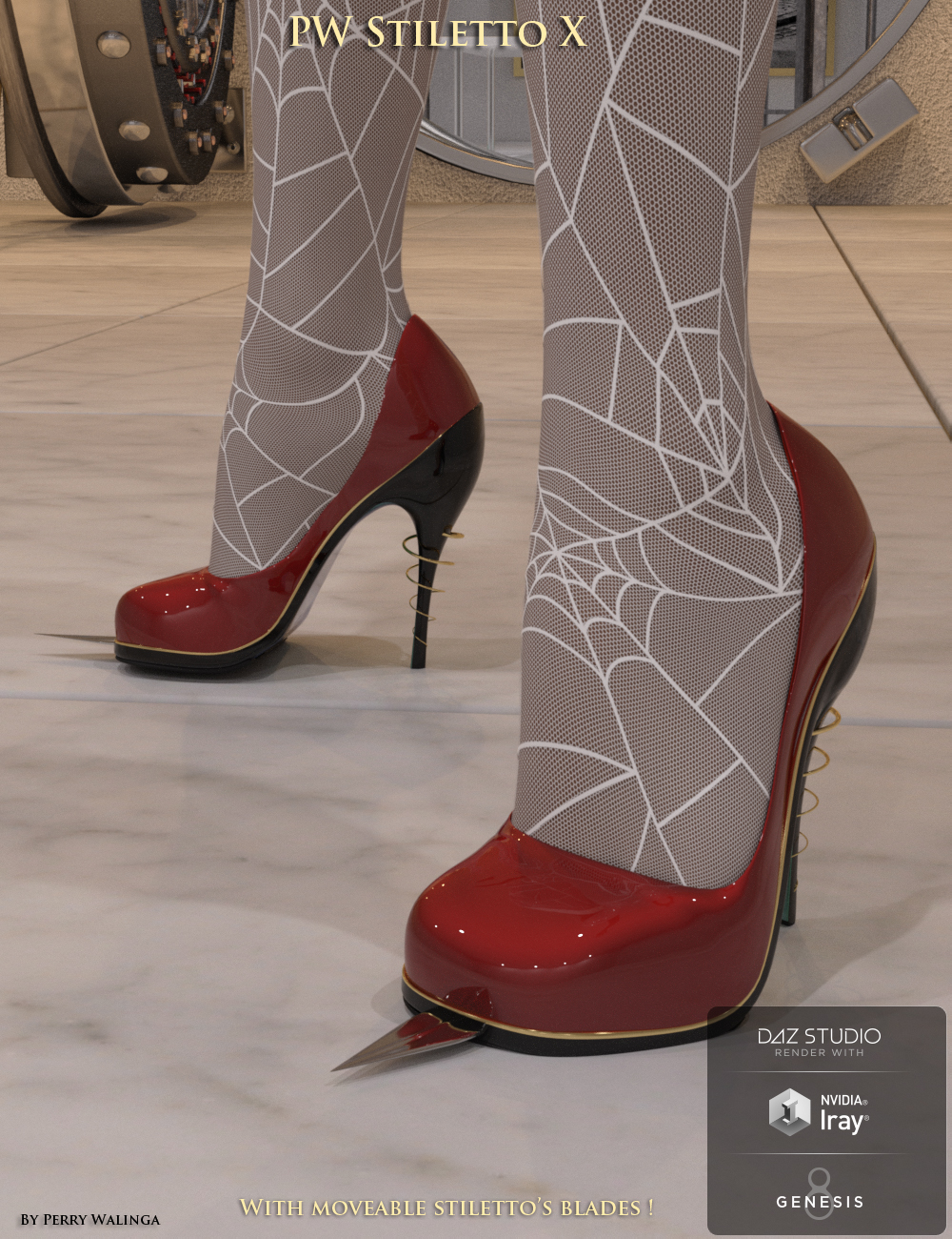 PW Stiletto Heels X by: PW Productions, 3D Models by Daz 3D