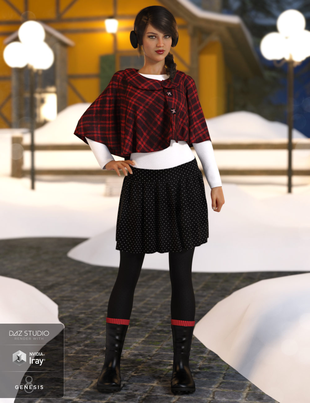 dForce Wonderland Outfit for Genesis 8 Female(s) by: Barbara BrundonMoonscape GraphicsSade, 3D Models by Daz 3D