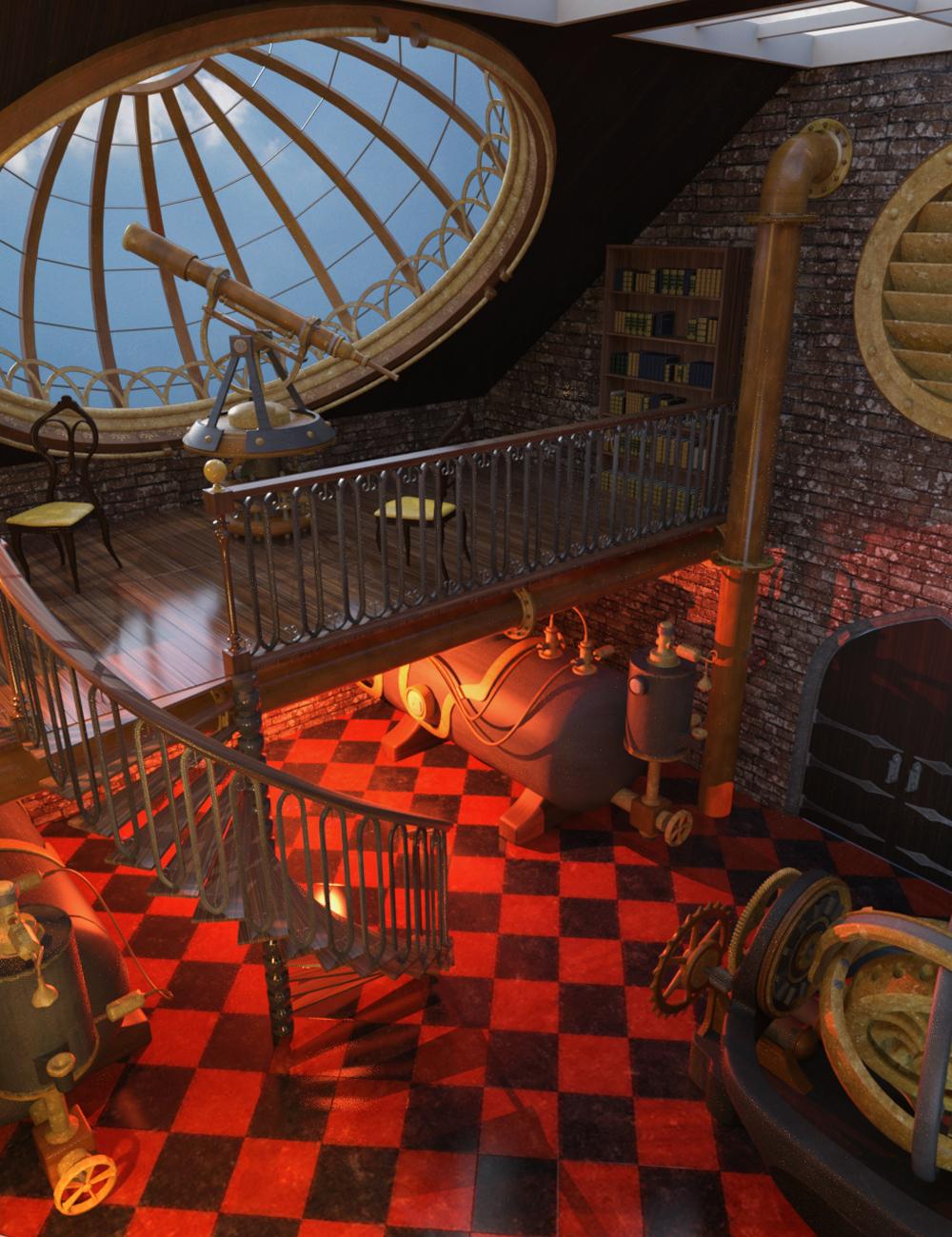Steampunk Workshop by: Phantasmagorical Scenes, 3D Models by Daz 3D