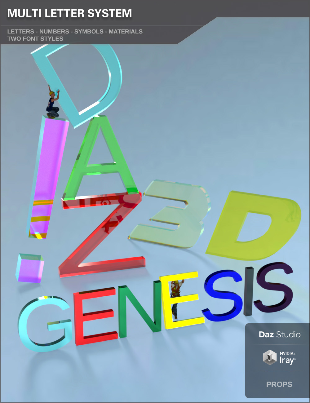 Multi Letter System by: SF-Design, 3D Models by Daz 3D