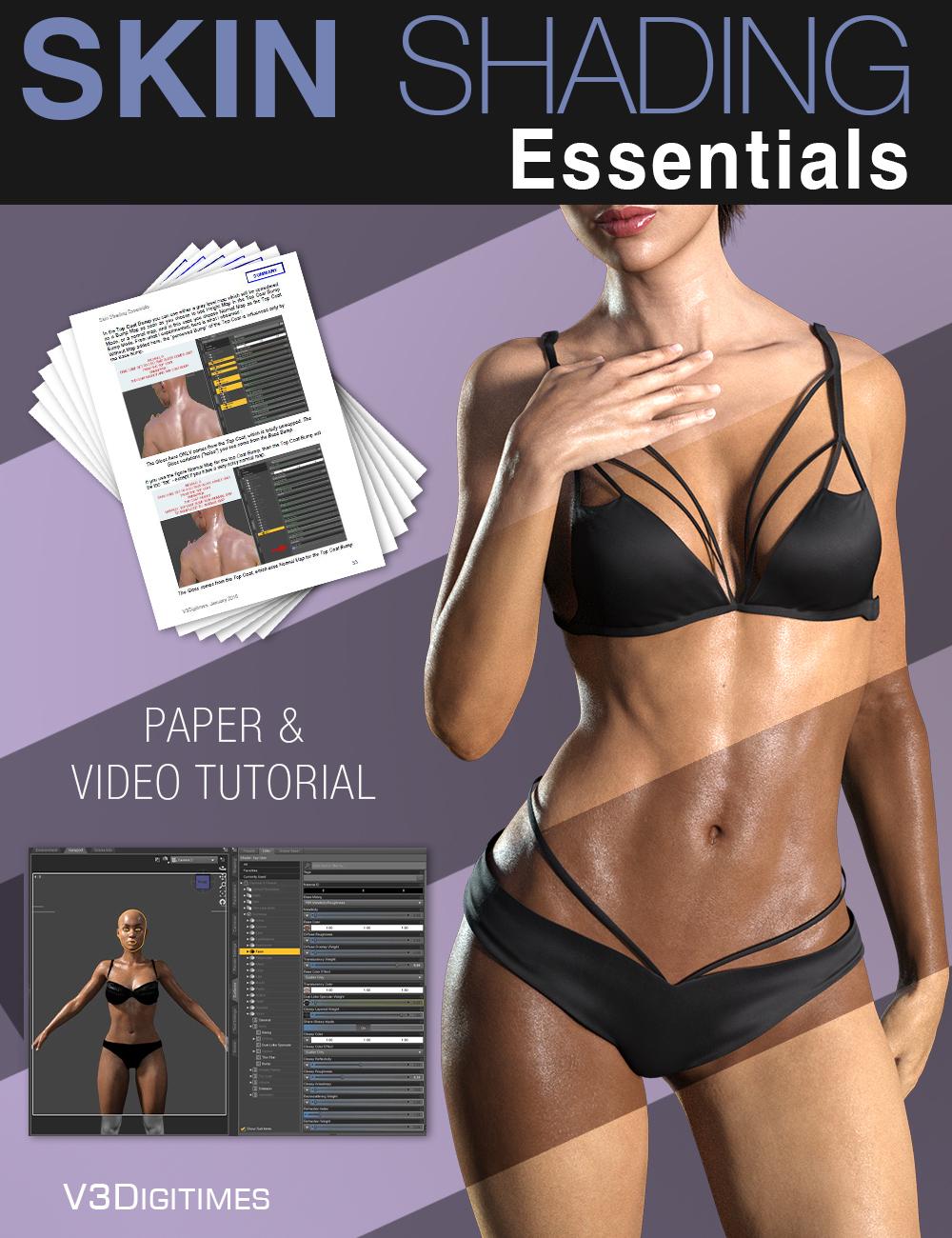 Skin Shading Essentials Tutorial by: V3Digitimes, 3D Models by Daz 3D