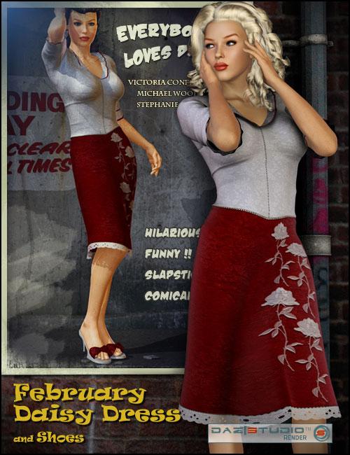 February Daisy by: Barbara Brundon, 3D Models by Daz 3D