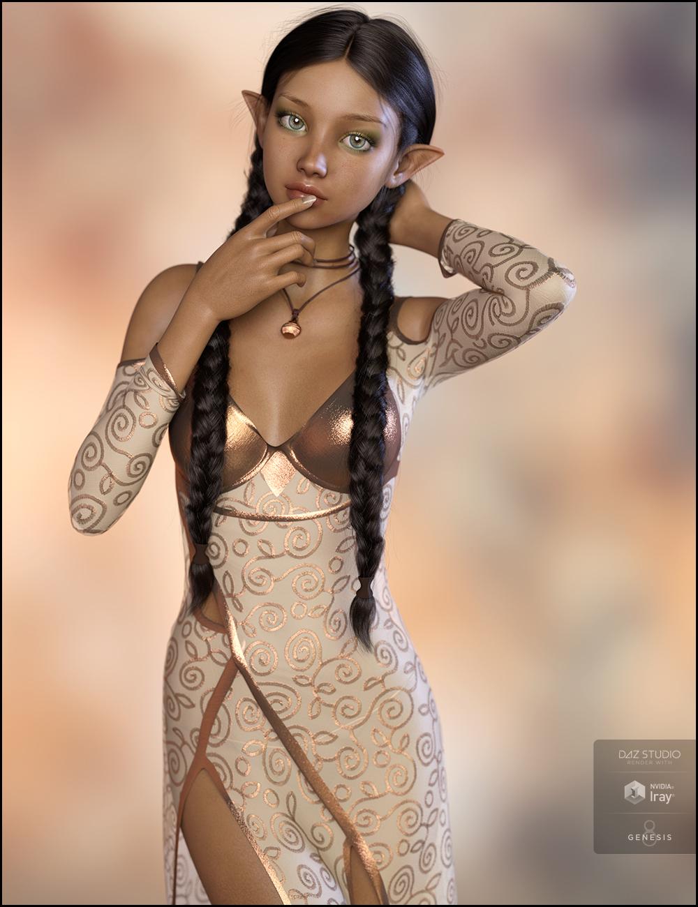 Brisen for Mika 8 by: DemonicaEviliusJessaii, 3D Models by Daz 3D