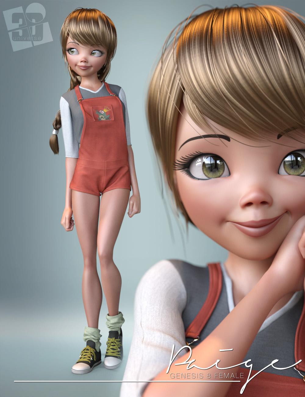 dForce Paige Clothing for Genesis 8 Female(s) by: 3D Universe, 3D Models by Daz 3D