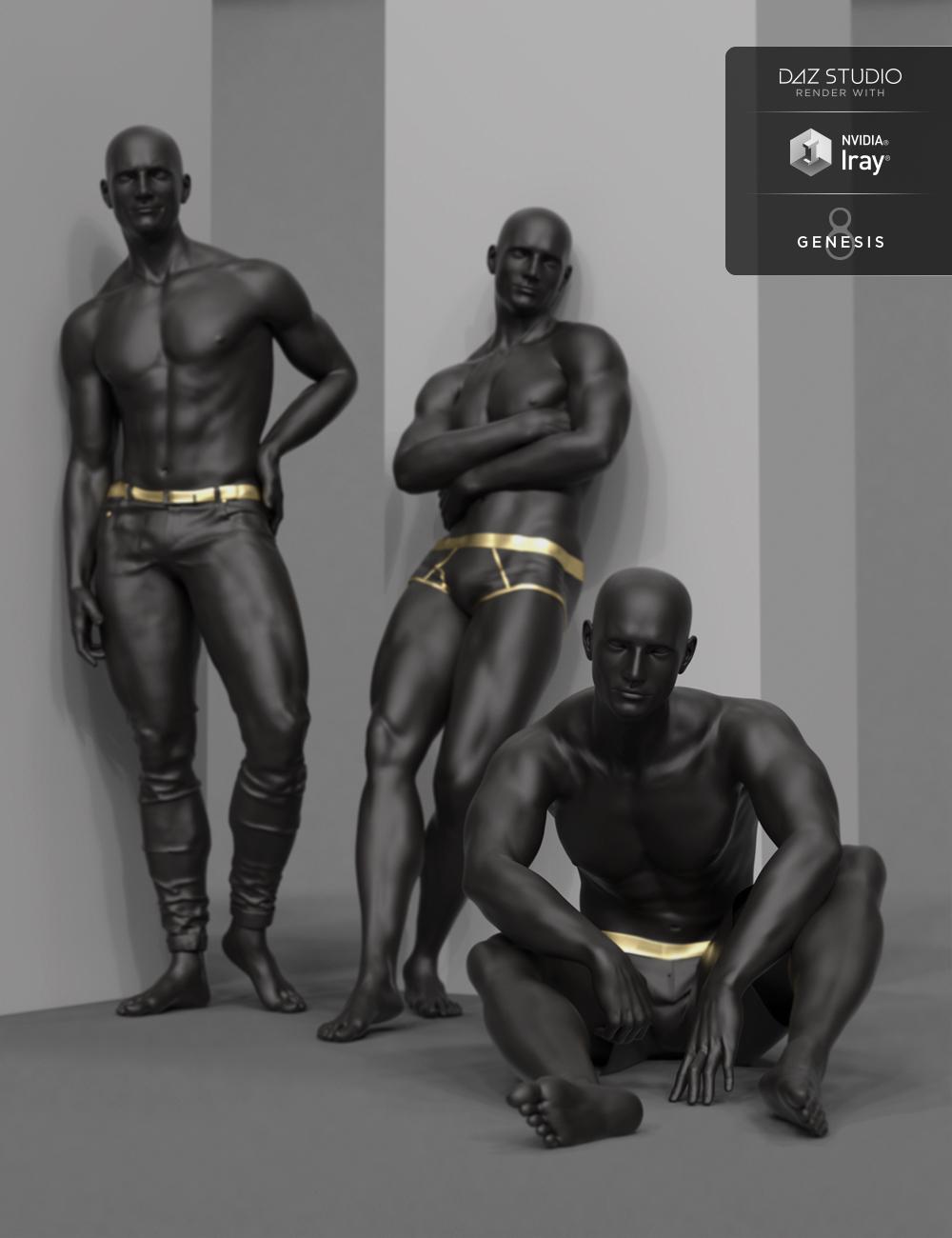Noir Poses for Genesis 8 Male by: Faber Inc, 3D Models by Daz 3D