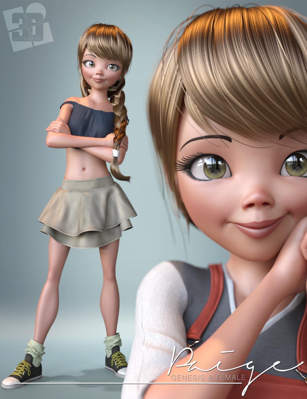 Paige Bundle for Genesis 8 Female(s) by: 3D Universe, 3D Models by Daz 3D