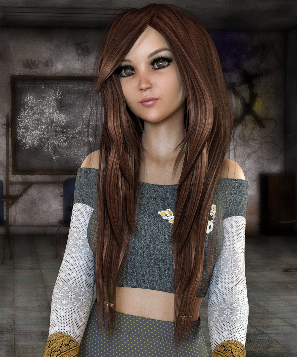 Abigail Hair for Genesis 3 and 8 Female(s) by: Propschick, 3D Models by Daz 3D