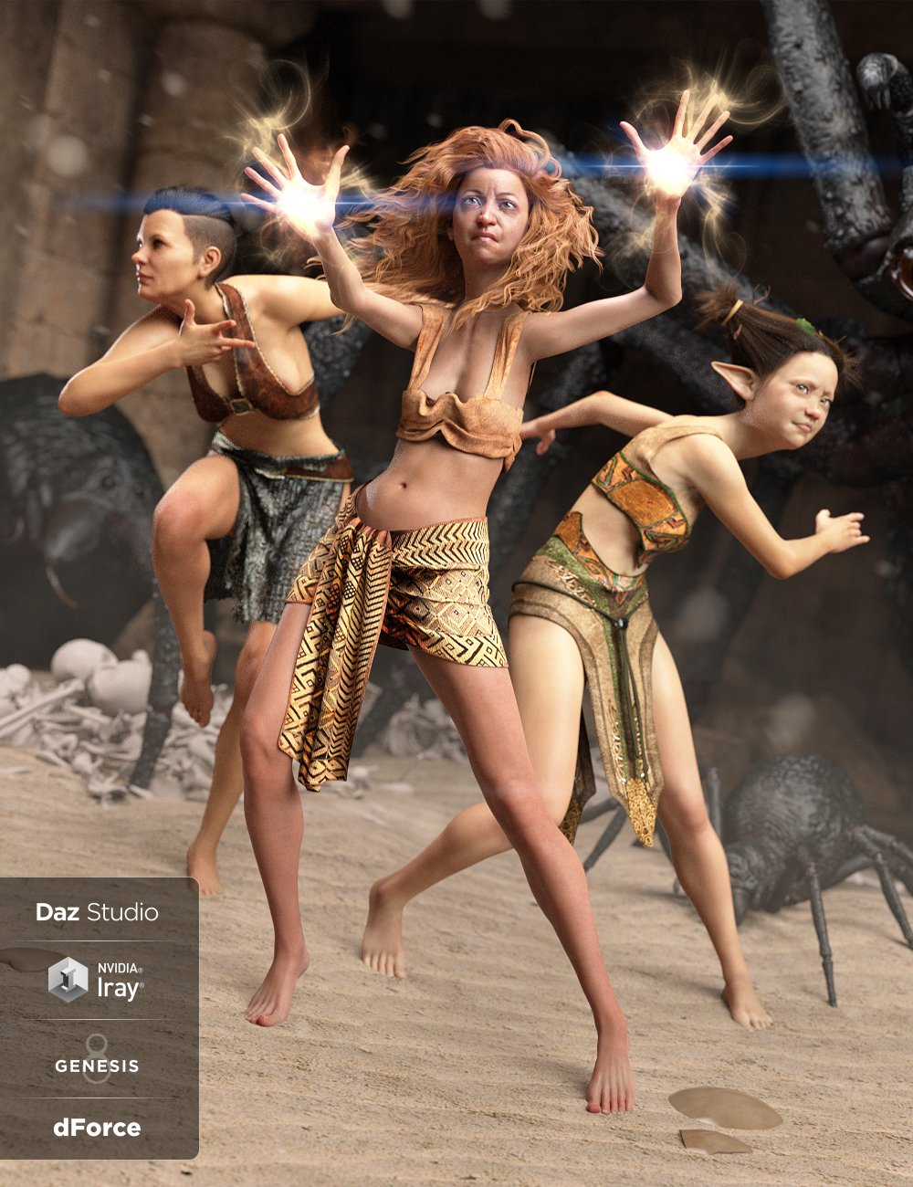 dForce Loincloth Collection for Genesis 8 Female(s) by: Lyrra MadrilShox-Design, 3D Models by Daz 3D
