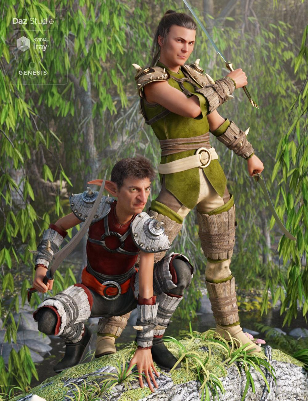 Oak Defender Outfit Textures by: Arien, 3D Models by Daz 3D