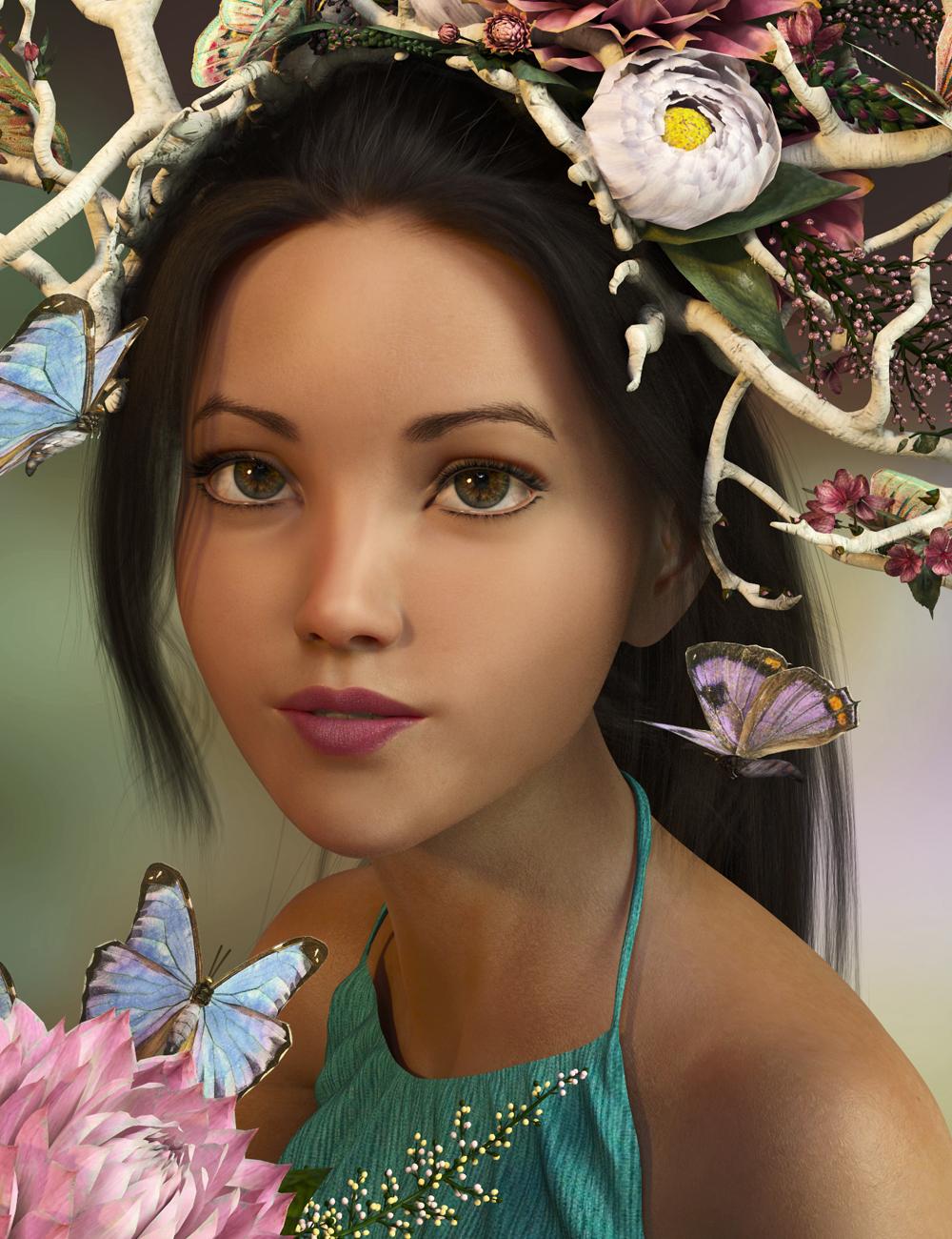 Pix Braelyn for Genesis 8 Female & Aiko 8 by: Pixeluna, 3D Models by Daz 3D