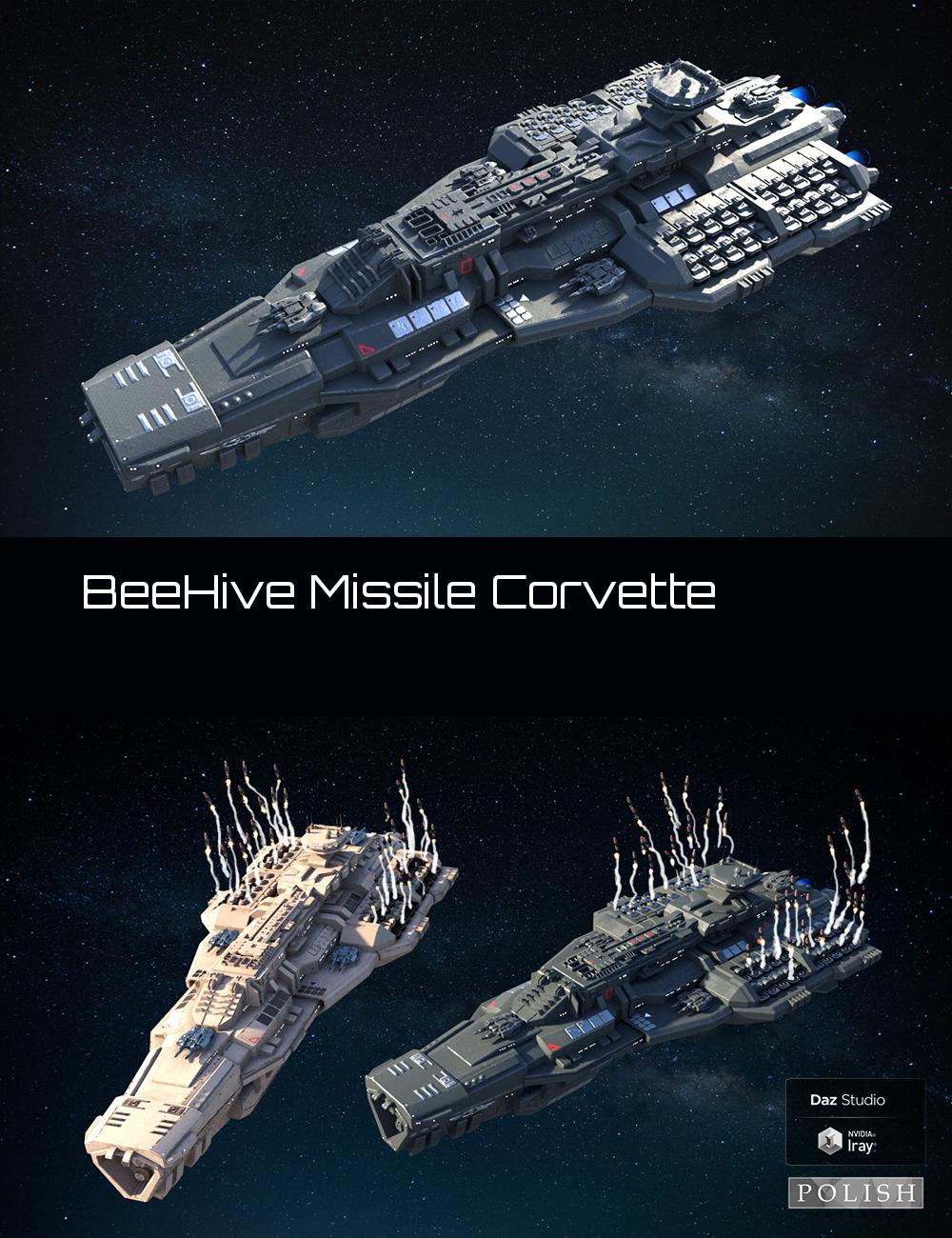 BeeHive Missile Corvette by: Polish, 3D Models by Daz 3D
