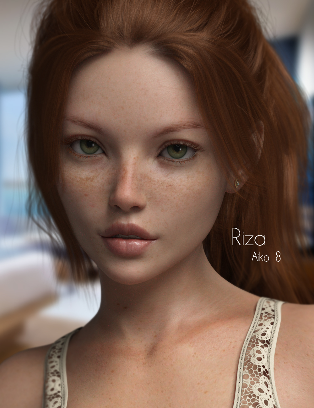 P3D Riza for Aiko 8 by: P3Design, 3D Models by Daz 3D