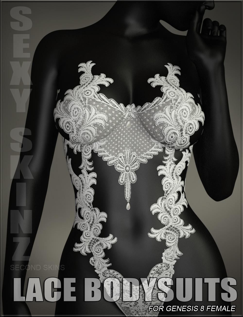 Sexy Skinz - Lace Bodysuits for Genesis 8 Female by: vyktohria, 3D Models by Daz 3D