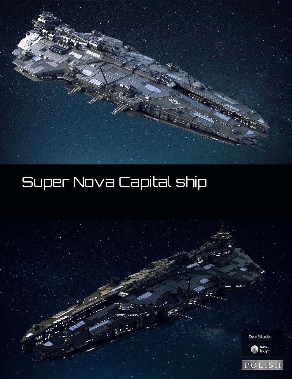 Super Nova Capital Ship by: Polish, 3D Models by Daz 3D