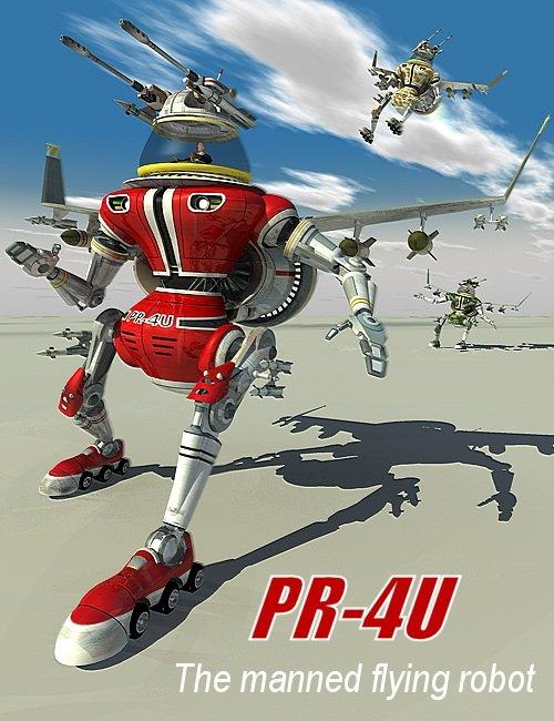 PR-4U by: Kibarreto, 3D Models by Daz 3D