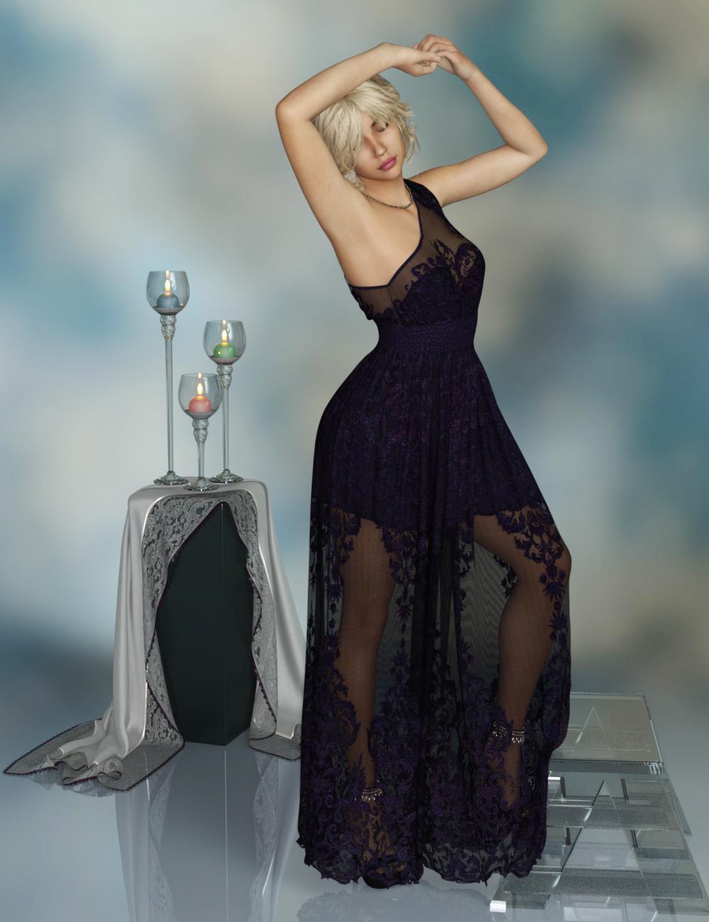 dForce Pure Grace for Genesis 8 Female(s) by: PandyGirlDirtyFairyWildDesigns, 3D Models by Daz 3D