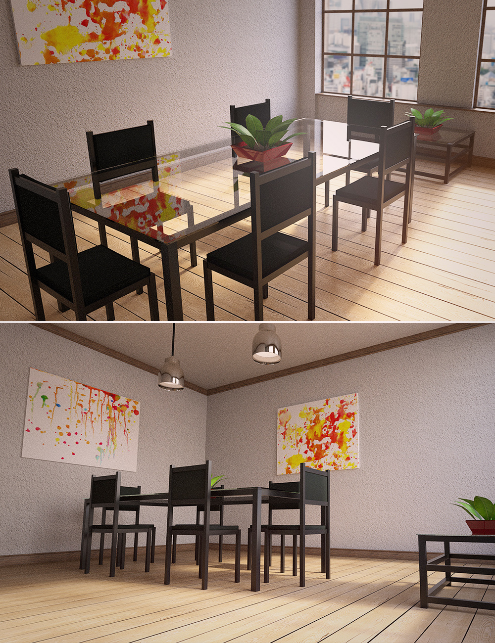 Cozy Dining Room by: , 3D Models by Daz 3D