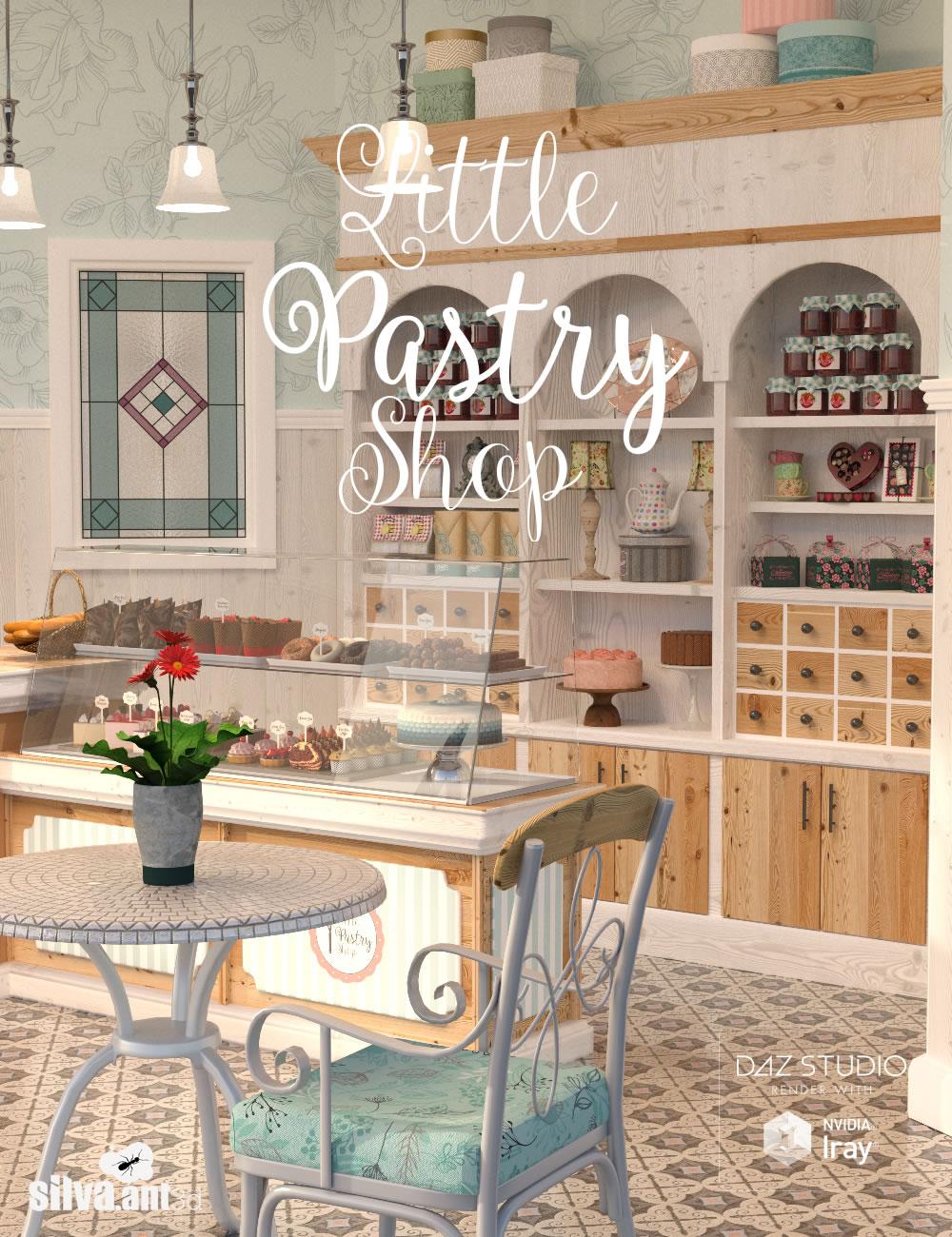 Little Pastry Shop by: SilvaAnt3d, 3D Models by Daz 3D
