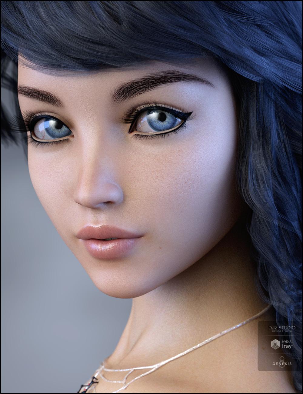 Salem for Aiko 8 by: RazielJessaii, 3D Models by Daz 3D